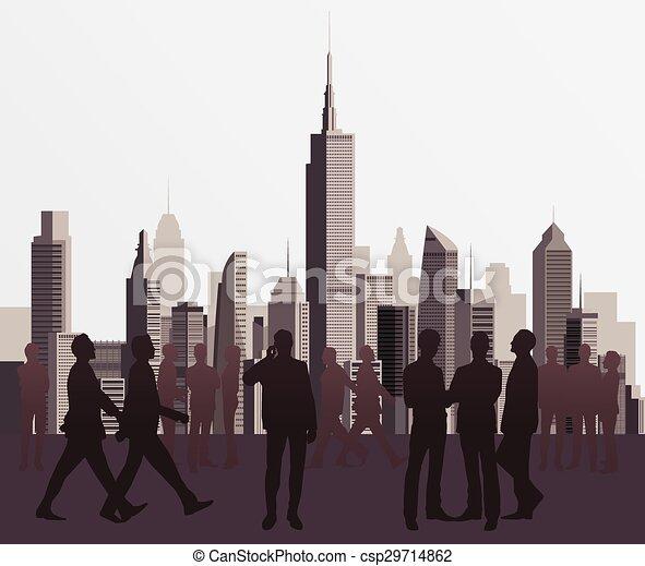 Siluetas de gente de negocios - csp29714862