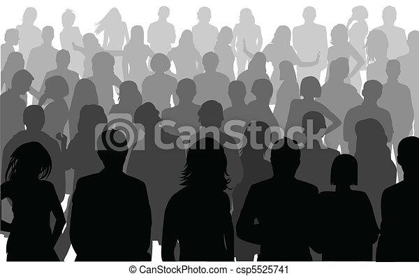 Siluetas de gente de negocios - csp5525741