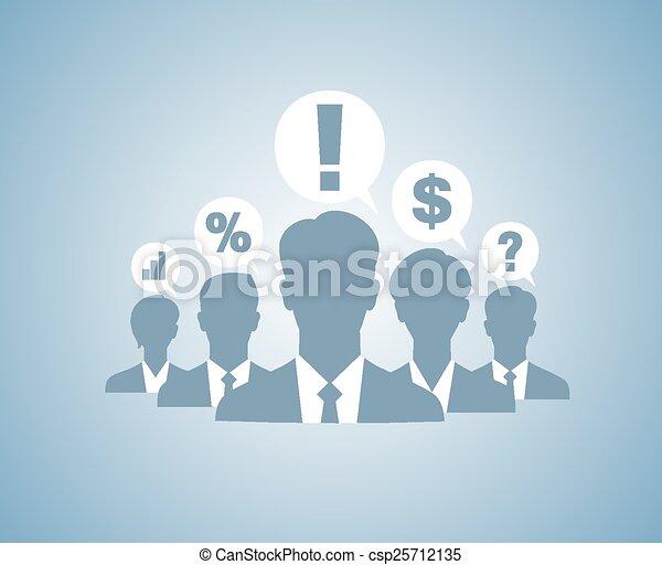 Gente de negocios siluetas de equipo - csp25712135