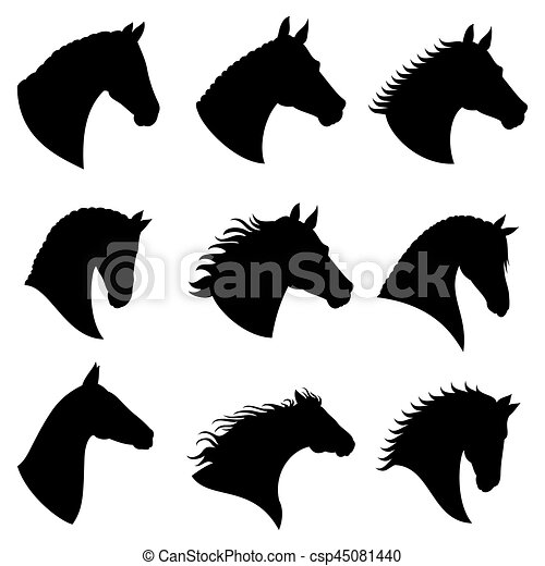 siluetas  vector  cabeza  caballo caballo  silueta horse head clipart black and white clip art horse head profile
