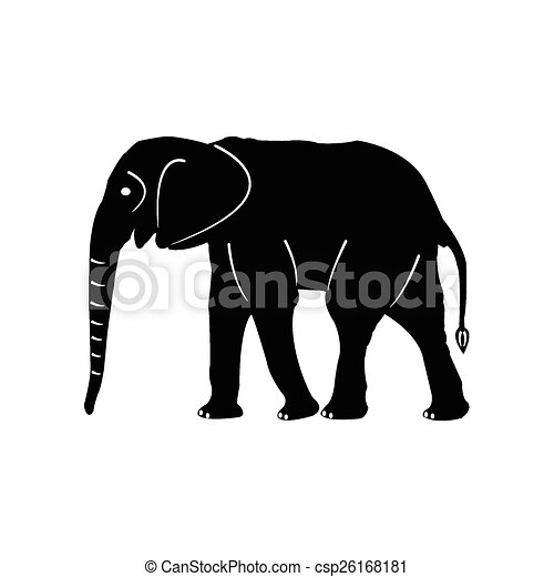 Elefantes vector de siluetas - csp26168181