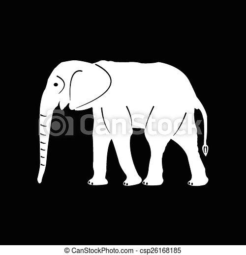 Elefantes vector de siluetas - csp26168185