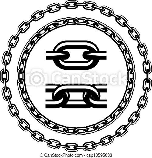siluetas, vector, seamless, cadena - csp10595033