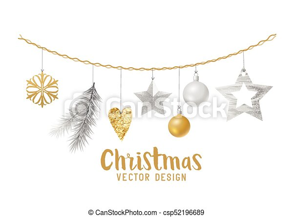 Silver And Gold Christmas Decorations