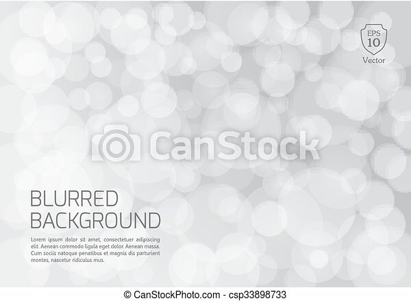 Silver blurred background with twinkly lights - csp33898733