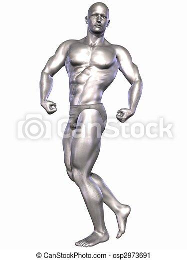 Silver Bodybuilder - csp2973691