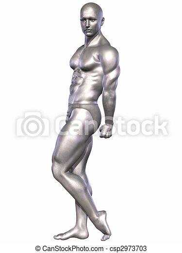 Silver Bodybuilder - csp2973703