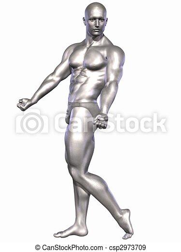 Silver Bodybuilder - csp2973709