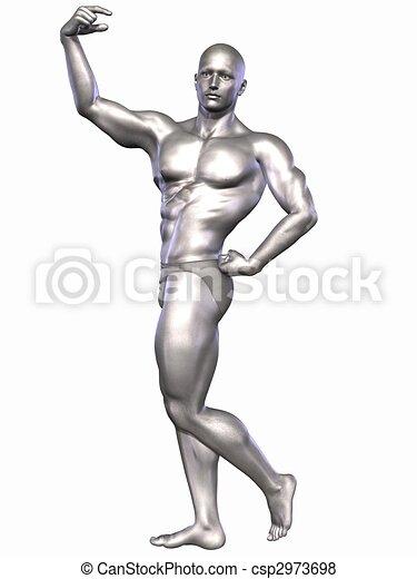 Silver Bodybuilder - csp2973698