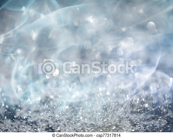Silver Bokeh and Light Background - csp77317814