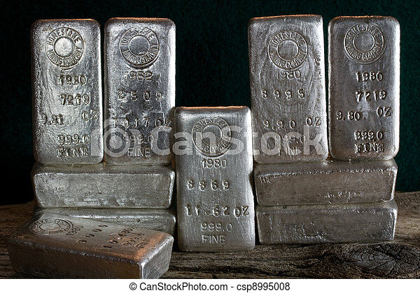 Silver Bullion Bars - Ingots - csp8995008