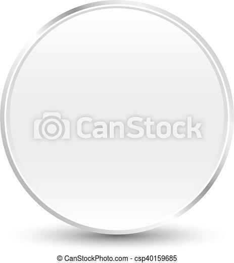 Silver button - csp40159685
