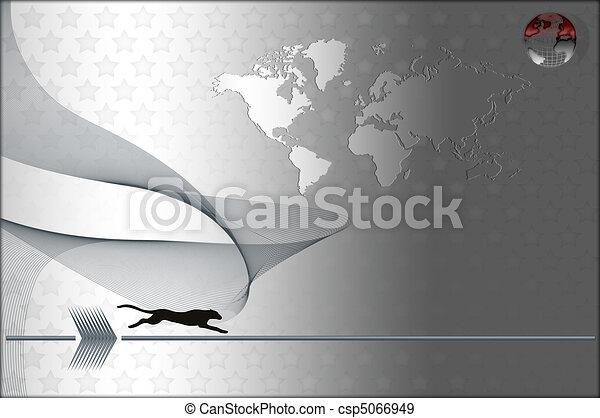 Silver card. - csp5066949