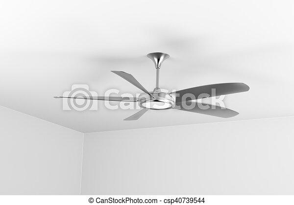 Silver Ceiling Fan   Csp40739544
