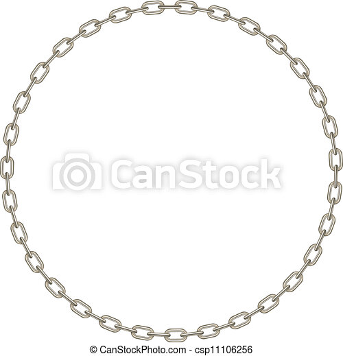 Silver chain in shape of circle - csp11106256
