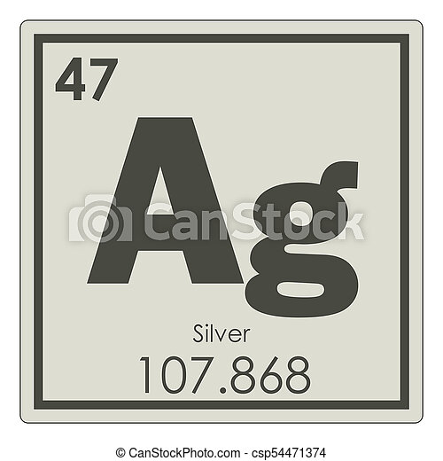 Silver chemical element periodic table science symbol silver chemical element csp54471374 urtaz Image collections