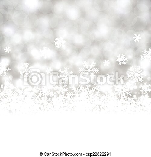 Silver christmas background. - csp22822291