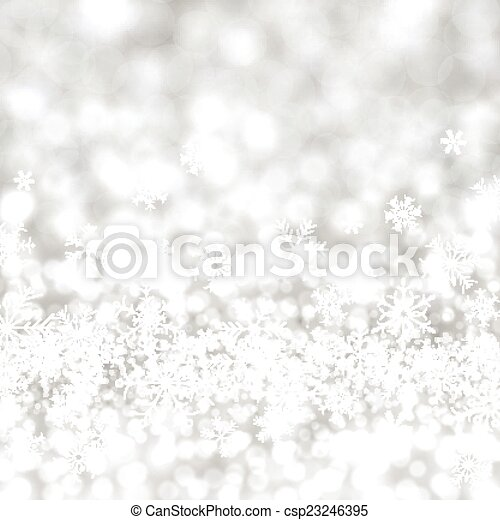 Silver christmas background. - csp23246395