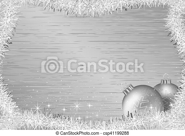 Silver Christmas Background - csp41199288