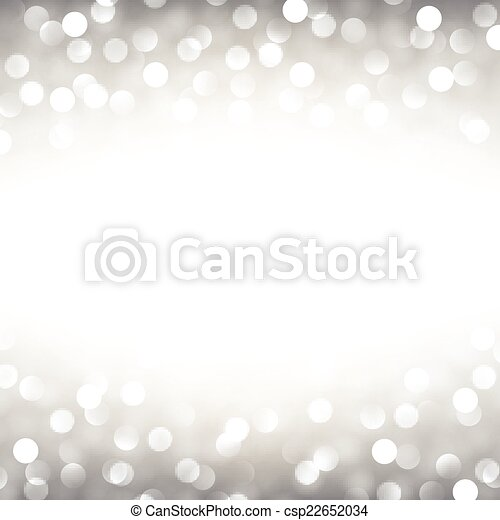 Silver christmas background. - csp22652034