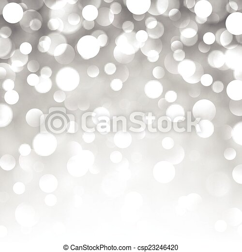 Silver christmas background. - csp23246420