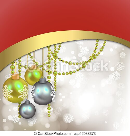 Silver christmas background - csp42033873