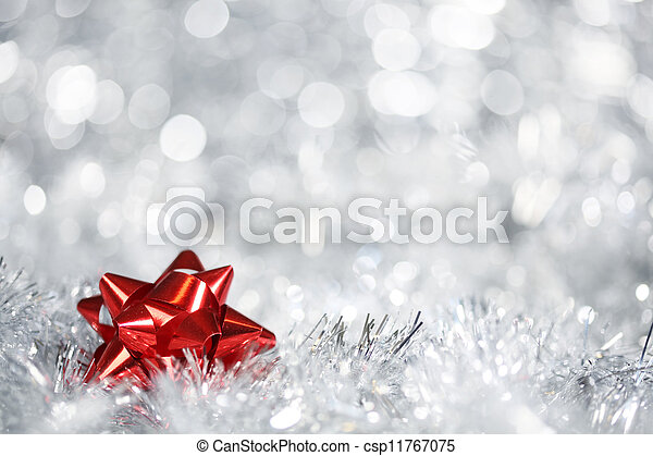 Silver Christmas background - csp11767075