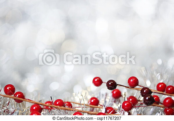 Silver Christmas background - csp11767207
