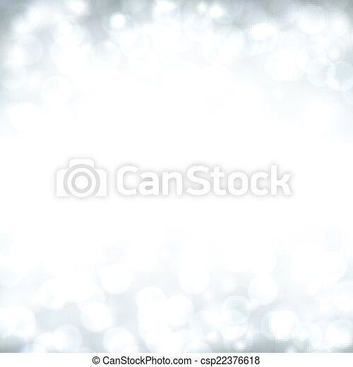 Silver christmas background. - csp22376618