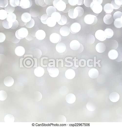 Silver christmas background. - csp22967506