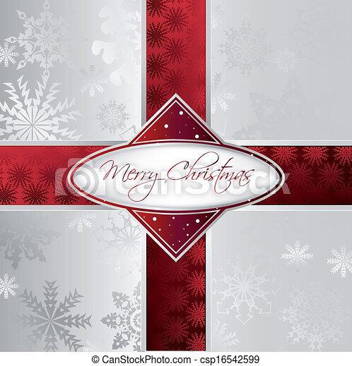 Silver Christmas Background. Vector - csp16542599