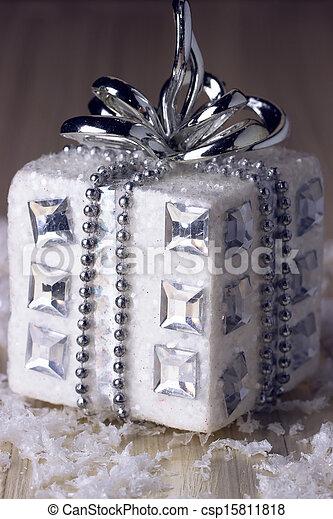 silver christmas gift - csp15811818