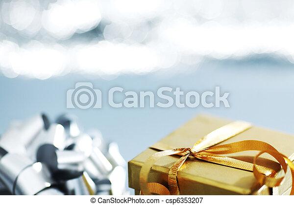 silver christmas gift - csp6353207