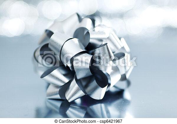 silver christmas gift - csp6421967