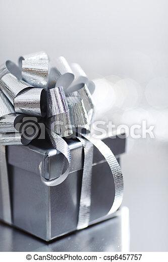 silver christmas gift - csp6457757