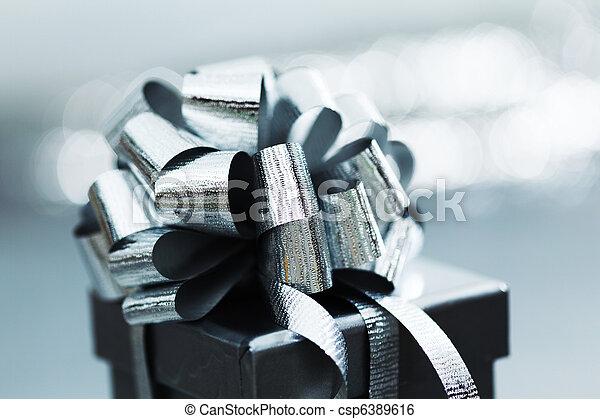 silver christmas gift - csp6389616