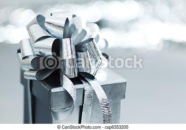 silver christmas gift - csp6353205