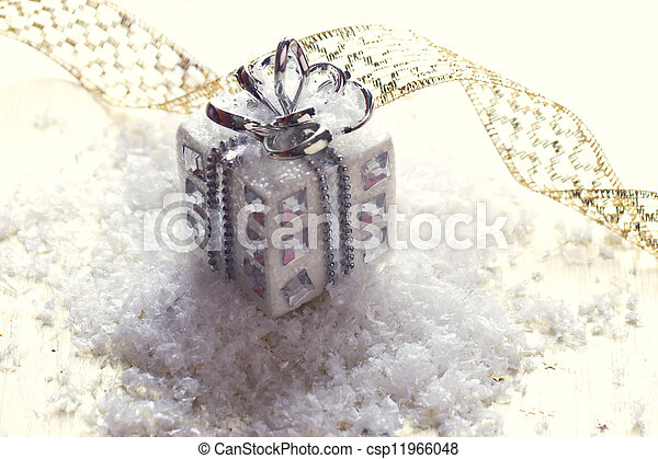silver christmas gift - csp11966048