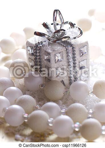 silver christmas gift - csp11966126