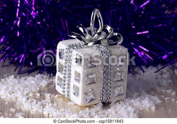 silver christmas gift - csp15811843