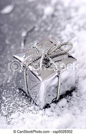 Silver Christmas gift - csp5028302