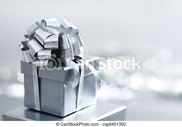 silver Christmas gift - csp6401350