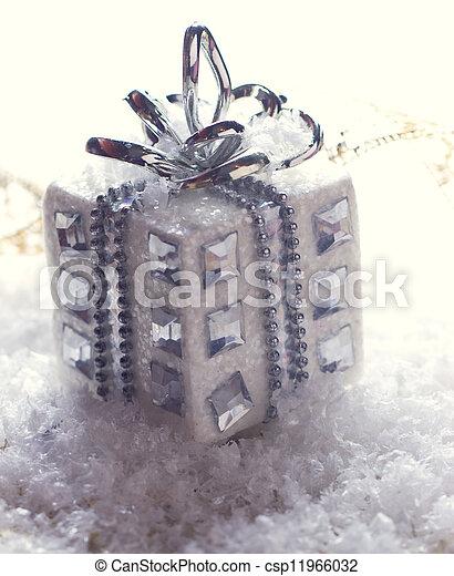 silver christmas gift - csp11966032