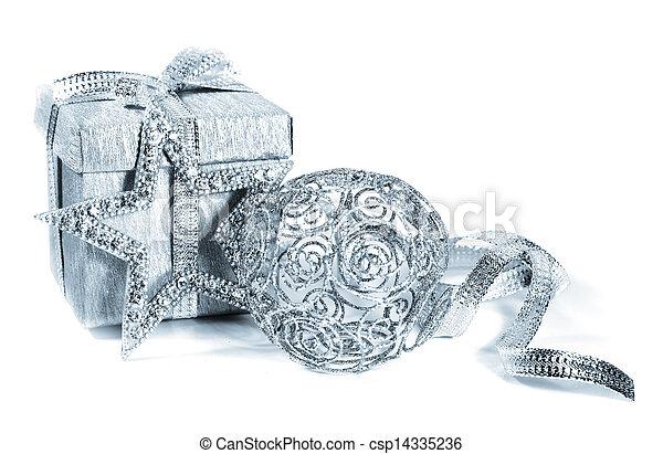 Silver christmas gift - csp14335236