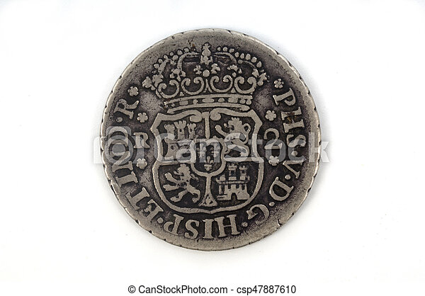 Silver coin Spain 2 reales - csp47887610