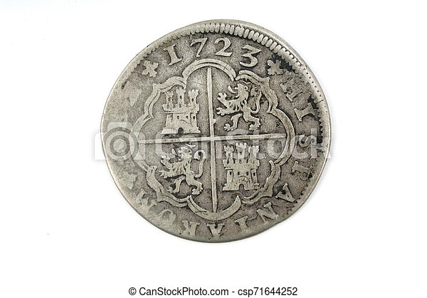 Silver coin Spain 2 reales - csp71644252