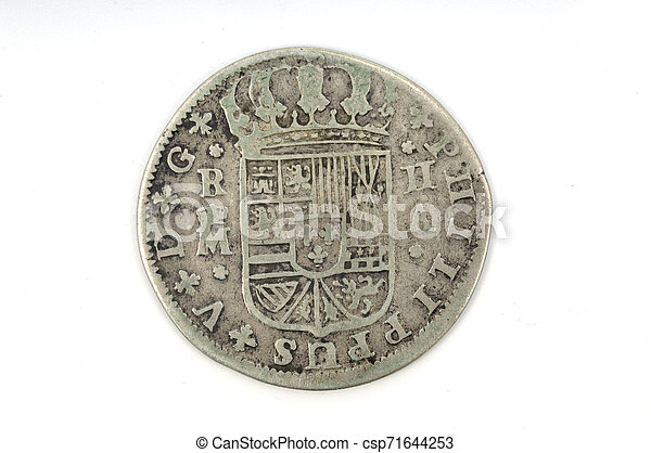Silver coin Spain 2 reales - csp71644253