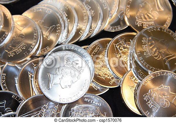 Silver Coins - csp1570076