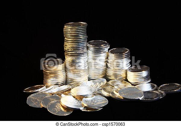 Silver Coins - csp1570063