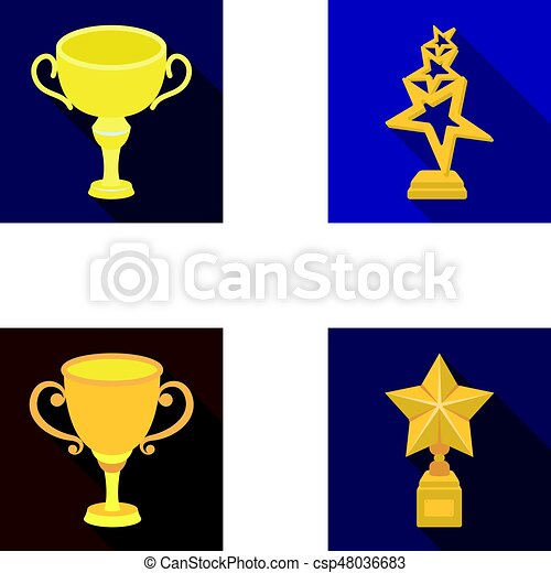 Silver Cup For The Second Place Gold Stars On The Stand A Cup With